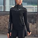 זול ביגוד כושר, ריצה ויוגה-בגדי ריקוד נשים עם רצועות איקס טלאים Jacket hoodie אימונית אלסטיין צווארון גבוה 3pcs ריצה כושר וספורט כושר אמון ספורט שמור על חום הגוף נושם ייבוש מהיר תומך זיעה חליפות בגדים שרוול ארוך לבוש אקטיבי