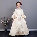ราคาถูก เครื่องประดับอนิเมะคอสเพลย์-คอสเพลย์ โลลิต้า Rococo Victorian เจ้าหญิง หนึ่งชิ้น ชุดเดรส Outfits เครื่องแต่งกาย สำหรับเด็ก เครื่องแต่งกาย ทอง Vintage คอสเพลย์ งานปาร์ตี้ / งานราตรี งานเลี้ยงวันเกิด วันเกิด ความยาว A-line