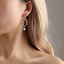 billiga Jewelry Set-Dam Dropp Örhängen Klassisk Stilig örhängen Smycken Guld / Silver Till Dagligen en Pair