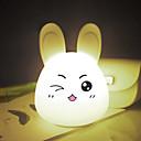 ราคาถูก ไฟตกแต่ง-1pc Rabbit คืนแสงไฟ LED / เนอสเซอรี่ไนท์ไลท์ / Book Light USB การ์ตูน / ความเครียดและความวิตกกังวลบรรเทา / ชาร์จใหม่ได้ 5 V