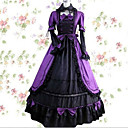 ราคาถูก เสื้อผ้าประวัติศาสตร์และวินเทจ-วินเทจ Princess Lolita Rococo หนึ่งชิ้น ชุดเดรส คอสเพลย์และคอสตูม Female ญี่ปุ่น เครื่องแต่งกายคอสเพลย์ สีม่วง / แดง / สีชมพู ลายต่อ Petal แขนยาว Maxi ความยาว / Victorian