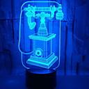 baratos Luzes da noite 3D-1pç Luz noturna 3D USB Criativo <=36 V
