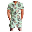 Χαμηλού Κόστους Ρούχα τρεξίματος-Ανδρικά Βασικό Λαιμόκοψη V Βυσσινί Θαλασσί Ρουμπίνι Ολόσωμα Ολόσωμη φόρμα, Γεωμετρικό M L XL