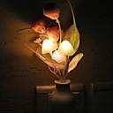 זול אוהד-1pc האיחוד האירופי תקע החידוש אור פטריות צבעוני פרח אור חיישן לילה מנורה הביתה קישוט רומנטית התינוק השינה