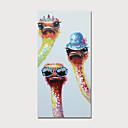 billige Abstrakte malerier-Hang malte oljemaleri Håndmalte - Abstrakt Dyr Moderne Inkluder indre ramme