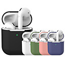 ราคาถูก อุปกรณ์เสริมสำหรับหูฟัง-ฝาครอบป้องกัน ง่าย สีสัน Apple Airpods กันกระแทก กันรอยขีดข่วน ซิลิโคนร่างกายเต็มรูปแบบ / ซิลิโคน / เจลซิลิก้า