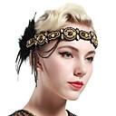 Χαμηλού Κόστους Θήκες iPhone-Τσάρλεστον Βίντατζ 1920s Gatsby Κορδέλα μαλλιών του 1920 Γυναικεία Στολές Χρυσαφί Πεπαλαιωμένο Cosplay Φεστιβάλ