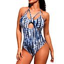 ราคาถูก สร้อยคอ-สำหรับผู้หญิง ชุดว่ายน้ำ Bodysuit ระบายอากาศ เสื้อไม่มีแขน การว่ายน้ำ ฤดูร้อน