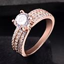 ราคาถูก แหวน-สำหรับผู้หญิง แหวน Cubic Zirconia 1pc สีเงิน Rose Gold โลหะผสม วงกลม อินเทรนด์ สง่างาม งานแต่งงาน เครื่องประดับ แฟนซี น่ารัก