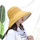 billiga Huvudbonader för damer-Dam Aktiv Grundläggande söt stil Solhatt-Bomull Linne Enfärgad Vår Sommar Purpur Gul Fuchsia