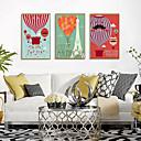 זול עיצוב וקישוט לקיר-דפוס אומנות ממוסגרת סט ממוסגר - פרחוני / בוטני פוליסטירן איור וול ארט