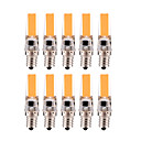 billige Damptilbehør-YWXLIGHT® 10pcs 3 W LED-lamper med G-sokkel 200-300 lm E12 T 1 LED perler COB Mulighet for demping Varm hvit Kjølig hvit 220 V 110 V