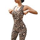 ราคาถูก รองเท้าแตะและรองเท้าโลฟเฟอร์สำหรับผู้หญิง-สำหรับผู้หญิง Romper Jumpsuit ออกกำลังกาย ลายเสือ โยคะ การออกกำลังกาย Bodysuit ชุดทำงาน Lightweight ระบายอากาศ ความยืดหยุ่นสูง