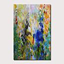 baratos Pinturas Abstratas-Pintura a Óleo Pintados à mão - Abstrato Paisagem Contemprâneo Modern Incluir moldura interna