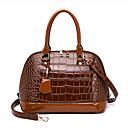 ราคาถูก กระเป๋า Totes-สำหรับผู้หญิง กระดุม / ซิป PU กรเป๋าหิ้ว จระเข้ สีดำ / สีน้ำตาล / ทับทิม / หนังงู / ฤดูใบไม้ร่วง & ฤดูหนาว