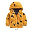זול בגדי ריקוד לילדים-ז'קט ומעיל דפוס דפוס סגנון רחוב בנים ילדים