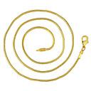 זול שרשראות לגברים-בגדי ריקוד גברים שרשרת קלאסי זול קלסי בסיסי אופנתי פליז ציפוי זהב זהב 46,56,61,66 cm שרשראות תכשיטים 1pc עבור יומי עבודה