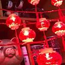 ราคาถูก ผมต่อแท้-6 * 4 เมตร ไฟสาย 20 ไฟ LED แดง ตกแต่ง พลังงานแสงอาทิตย์ 1set