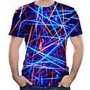 billiga Lys upp leksaker-Tryck, 3D Plusstorlekar T-shirt Herr Rund hals Marinblå / Kortärmad