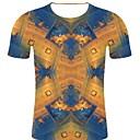 זול צמידי גברים-3D / קשת / גראפי צווארון עגול רוק / מוּגזָם מידות גדולות כותנה, טישרט - בגדי ריקוד גברים דפוס פול