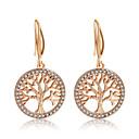 ราคาถูก ตุ้มหู-สำหรับผู้หญิง สีเงิน สีทอง Cubic Zirconia Drop Earrings คลาสสิค โบฮีเมียน ต่างหู เครื่องประดับ สีเงิน / ทอง สำหรับ ทุกวัน เทศกาล 1 คู่