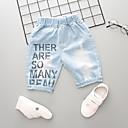 billiga Swim Goggles-Barn Pojkar Aktiv Grundläggande Enfärgad Tryck Hål Rev Tryck Bomull Jeans Ljusblå