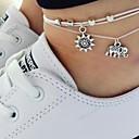 povoljno Nakit za tijelo-Žene Gležanj Narukvica Slon Sunce Boemski stil Kratka čarapa Jewelry Obala Za Party Dnevno