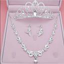povoljno Komplet nakita-Žene Bijela Sintetički dijamant Svadbeni nakit Setovi Naušnice Set Chandelier Klasik Naušnice Jewelry Pink Za Vjenčanje Praznik Festival 1set