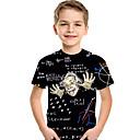 billiga Lys upp leksaker-Barn Småbarn Pojkar Aktiv Grundläggande Geometrisk Tryck Tryck Kortärmad T-shirt Svart
