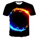 Χαμηλού Κόστους Θήκες & Καλύμματα-Ανδρικά Μεγάλα Μεγέθη T-shirt Κοντομάνικο 3D / Ζώο Στρογγυλή Λαιμόκοψη Λεπτό Στάμπα Μαύρο
