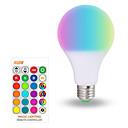 ราคาถูก กริ่ง ตัวล็อก และกระจก-1pc 10 W หลอดสมาร์ท LED 200-800 lm E26 / E27 A70 6 ลูกปัด LED SMD 5050 Smart หรี่แสงได้ ปาร์ตี้ RGBW 85-265 V