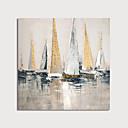 billige Blomster-/botaniske malerier-Hang malte oljemaleri Håndmalte - Abstrakt Still Life Moderne Inkluder indre ramme