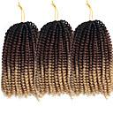 """ราคาถูก วิกผมเปีย-Braiding Hair ความหงิก Braids บิด Braids หยิก ถักเปียผมโครเชต์ สังเคราะห์ 3 ชิ้น Braids ผม สีธรรมชาติ 8"""" ยางยืด สังเคราะห์ ถักโครเชต์กับผมมนุษย์ สวมใส่ทั่วไป เทศกาล Braids แอฟริกัน / ผม Ombre"""