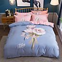 お買い得  フローラルデベットカバー-布団カバーセット フラワー / 現代風 ポリスター プリント 4個Bedding Sets