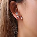 ราคาถูก ตุ้มหู-สำหรับผู้หญิง ต่างหู ต่างหู เครื่องประดับ สีทอง / สีดำ / สีเงิน สำหรับ Street ฮอลิเดย์ เทศกาล 1 คู่