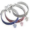 billiga Kragar, selar och koppel-Hund Halsband Justerbar storlek Stål Dekorativ Mosaik Legering Vit Blå Rosa