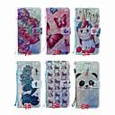 billiga tatuering klistermärken-Väska till Huawei Samsung Galaxy A70 (2019) / a7 (2018) / Huawei p smart (2019) Mönster / Flip / Stativ Kroppsfall Glitter Shine / Panda / Flower Hard Pu Läder för Huawei Y6 (2018) / Huawei Y6