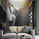 Χαμηλού Κόστους Ταπετσαρία-ταπετσαρία / Τοιχογραφία / Παντόφλες Καμβάς Κάλυψης τοίχων - κόλλα που απαιτείται Μοτίβο / 3D / Άγγελος