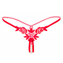 baratos Broches-Mulheres Básico Tanga & Fio Dental - Normal Cintura Média Preto Branco Rosa Tamanho Único