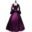 ราคาถูก ชุดเซ็กซี่-เจ้าหญิง Rococo Victorian หนึ่งชิ้น ชุดเดรส Party Costume เครื่องแต่งกาย สำหรับผู้หญิง ฝ้าย เครื่องแต่งกาย สีแดง Vintage คอสเพลย์ เสื้อผ้าที่สวมไปงานเต้นรำสวมหน้ากาก พรรคและเย็น แขนยาว ลากพื้น ความยาว
