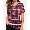 Χαμηλού Κόστους Ημέρα επιστροφής στο σπίτι-Γυναικεία Μεγάλα Μεγέθη T-shirt Γεωμετρικό Στάμπα Βυσσινί XXXL