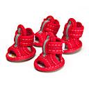 povoljno Dijelovi i dodaci za 3D printer-Psi Cipele i čizme Sandale Mrežica Za kućne ljubimce Pamuk / poliester Guma Crvena / Ljeto