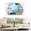 olcso Christmas Stickers-mediterrán táj fal matricák - sík fal matricák szállítás / táj tanulmány szoba / iroda / étkező / konyha