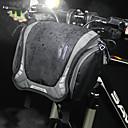 ราคาถูก สติกเกอร์แทททู-3 L กระเป๋าใส่ที่สำหรับมือจับ กระเป๋าสะพาย กันน้ำ Portable สวมใส่ได้ Bike Bag ผ้าใบ ไนลอน Bicycle Bag Cycle Bag ปั่นจักรยาน ออกกำลังกายกลางแจ้ง จักรยาน