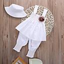 זול תיקים לילדים-סט של בגדים כותנה קצר ללא שרוולים אחיד פעיל / בסיסי בנות תִינוֹק / פעוטות