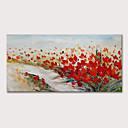 Χαμηλού Κόστους Πίνακες με Λουλούδια/Φυτά-Hang-ζωγραφισμένα ελαιογραφία Ζωγραφισμένα στο χέρι - Άνθινο / Βοτανικό Αφηρημένο Τοπίο Μοντέρνα Περιλαμβάνει εσωτερικό πλαίσιο
