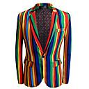 ราคาถูก ผ้าคลุมโซฟา-ลายแถบ Slim Fit เส้นใยสังเคราะห์ สูท - ปกกว้าง กระดุมหนึ่งเม็ดเรียงแถวเดียว