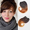 billiga Hårförlängningar av äkta hår-4 paket Brasilianskt hår Vågigt Äkta hår Nyans 8 tum Hårförlängning av äkta hår Människohår förlängningar