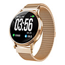 ราคาถูก เกียร์ป้องกันรถจักรยานยนต์-mk08 smartwatch สแตนเลส bt ติดตามการออกกำลังกายสนับสนุนแจ้งบางเฉียบรอบ smartwatch สำหรับ samsung / iphone / android โทรศัพท์