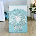"""povoljno Pozivnice za vjenčanje-Zamotajte & Pocket Vjenčanje Pozivnice 10pcs - Pozivnice Tema bajka / Cvjetni Style Pearl papira 5 """"× 7 ¼"""" (12.7 * 18.4cm)"""